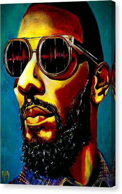 Hip Hop Canvas Print - Swizz Beatz by RiA RiA