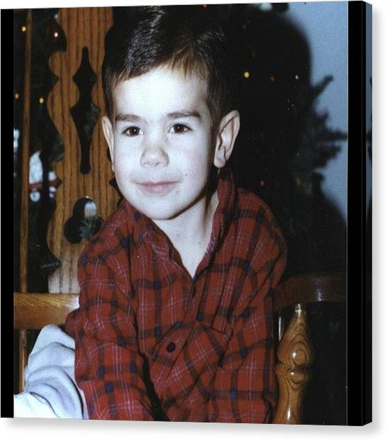 Flannel Canvas Print - Swooning The Ladies Since '94. #tbt by Matt Kretzschmar