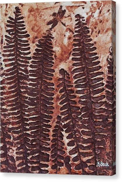 Sword Fern Fossil Canvas Print