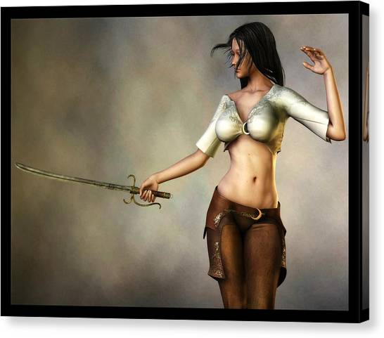 Sword Girl Canvas Print