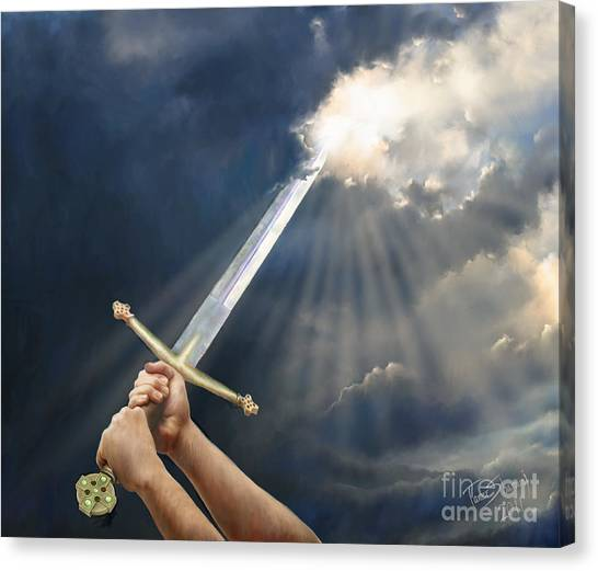 Prophetic Art Canvas Print - Sword Of The Spirit by Tamer and Cindy Elsharouni