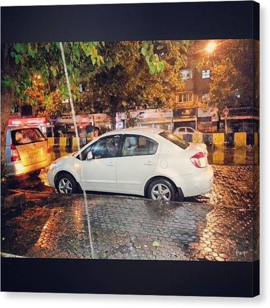 Toyota Canvas Print - #sx4 #suzuki #car #night #lowlight by Parth Patel