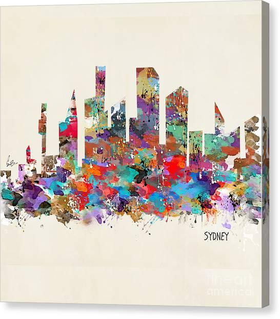 Sydney Skyline Canvas Print - Sydney Australia Skylne  by Bri Buckley