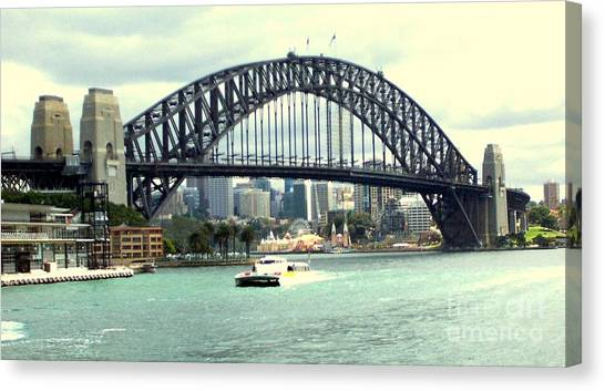Sydney Bridge Canvas Print by John Potts