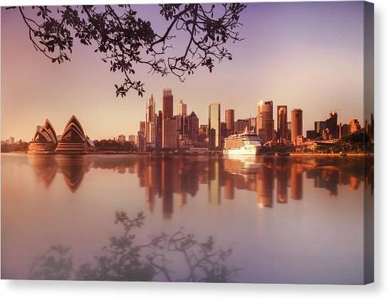 Sydney City Canvas Print by Saenman Photography