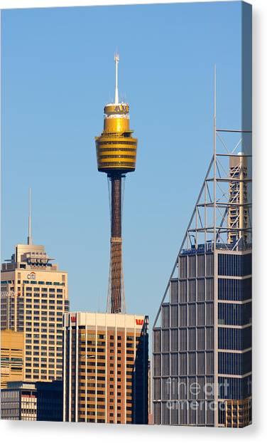 Sydney City Skyline With Sydney Tower Canvas Print
