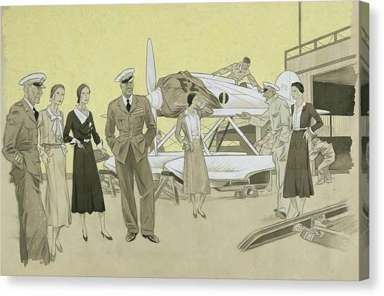 Seaplanes Canvas Print - Sydney Cup Race by Helen Dryden