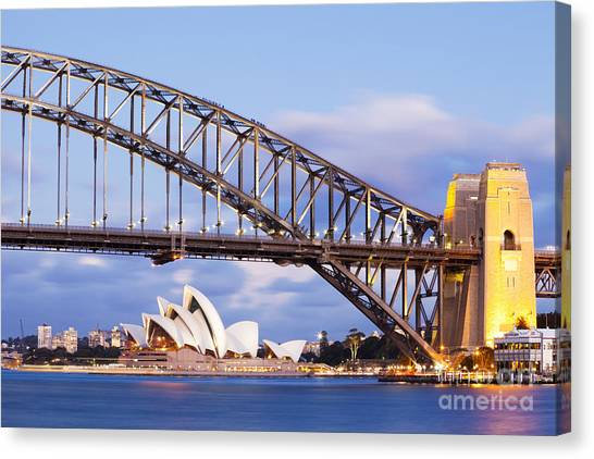 Sydney Harbour Bridge And Opera House Canvas Print
