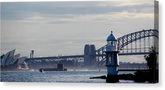 Canvas Print featuring the photograph Sydney Harbour by Debbie Cundy