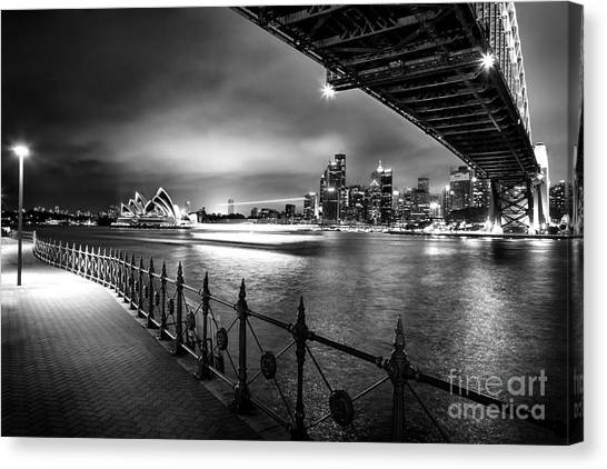 Sydney harbour bridge canvas print sydney harbour ferries by az jackson