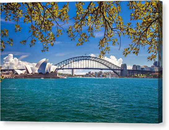 Sydney Harbour Skyline 2 Canvas Print