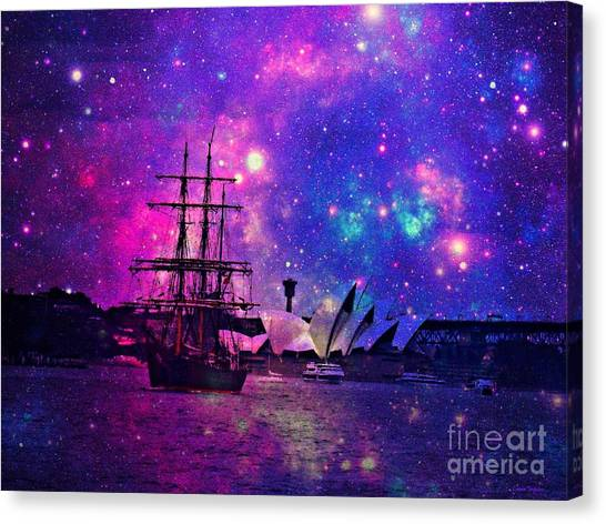 Sydney Harbour Through Time And Space Canvas Print