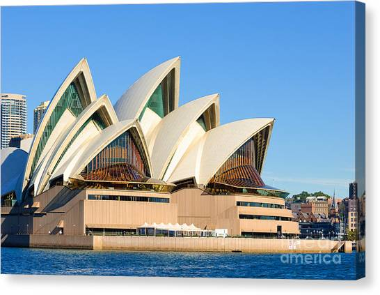Sydney Opera House And Sydney Harbour Canvas Print
