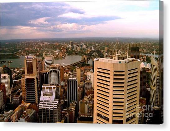 Sydney Skyline Canvas Print by John Potts