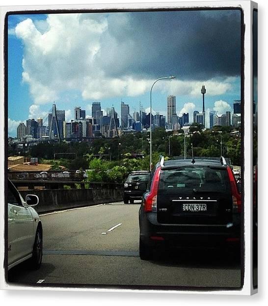 Sydney Skyline Canvas Print - Sydney Sydney Sydney  by Fay Cruz