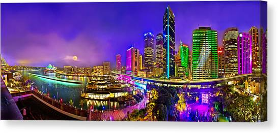 Degrees Canvas Print - Sydney Vivid Festival by Az Jackson