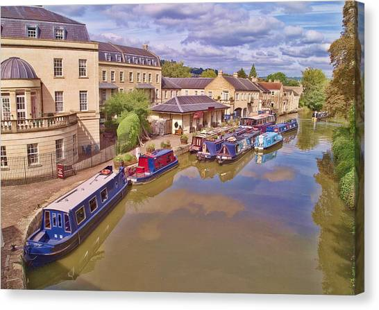 Sydney Wharf Bath Canvas Print