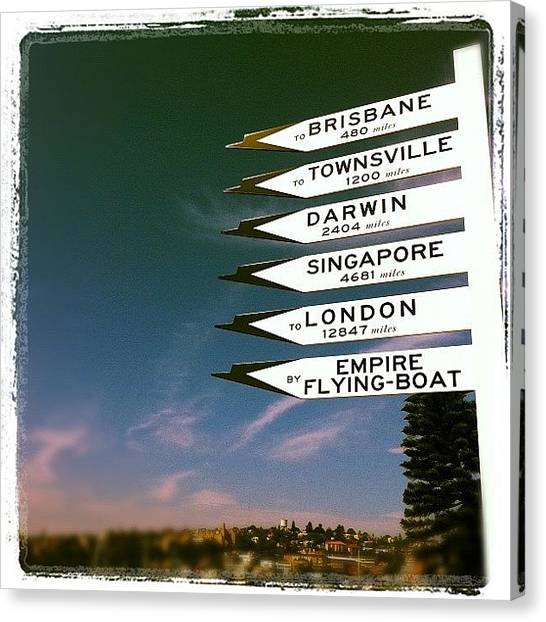 Seaplanes Canvas Print - #sydney#seaplane#signs by Nick Corkill