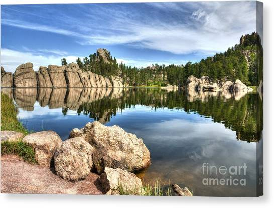 Canvas Print featuring the photograph Sylvan Lake Reflections 2 by Mel Steinhauer