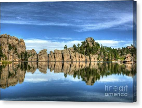 Canvas Print featuring the photograph Sylvan Lake Reflections by Mel Steinhauer