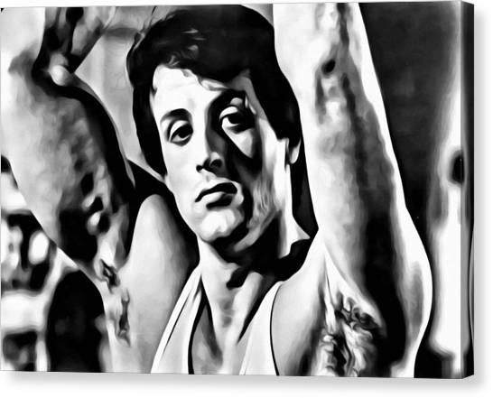 Sylvester Stallone Canvas Print - Sylvester Stallone Portrait by Florian Rodarte