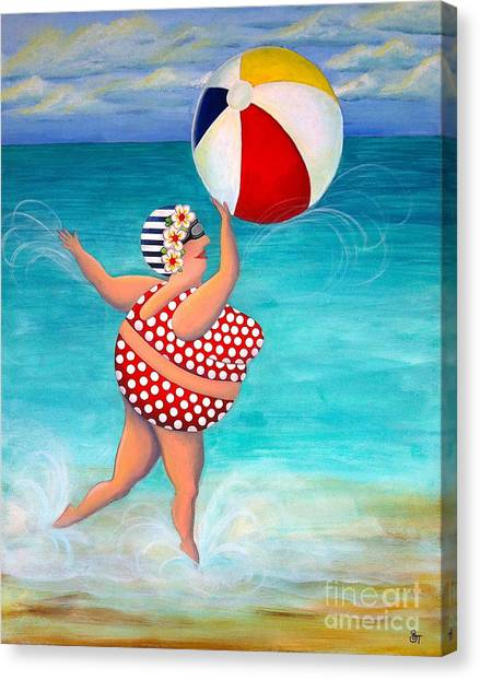 Sylvia At The Beach Canvas Print