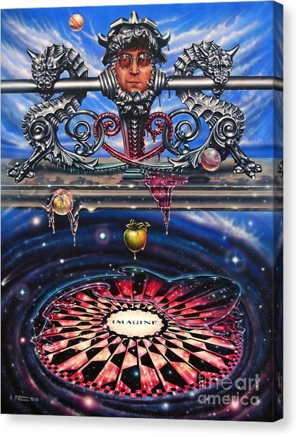 Yoko Ono Canvas Print - Symbiotic Love by Ricardo Chavez-Mendez