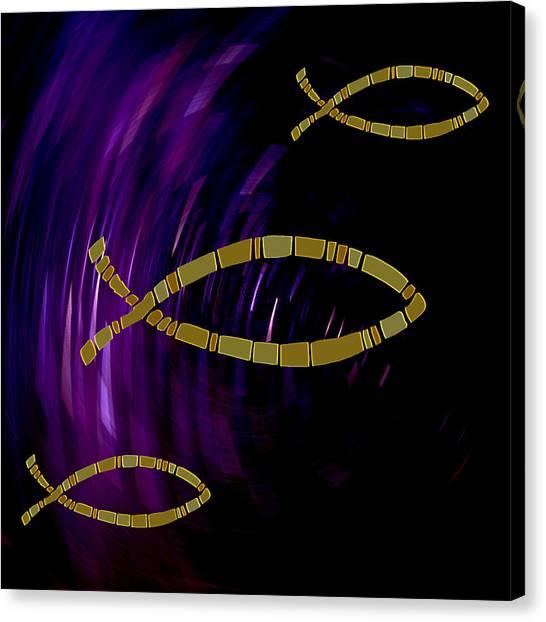 Symbol Of Christianity Canvas Print by Daryl Macintyre