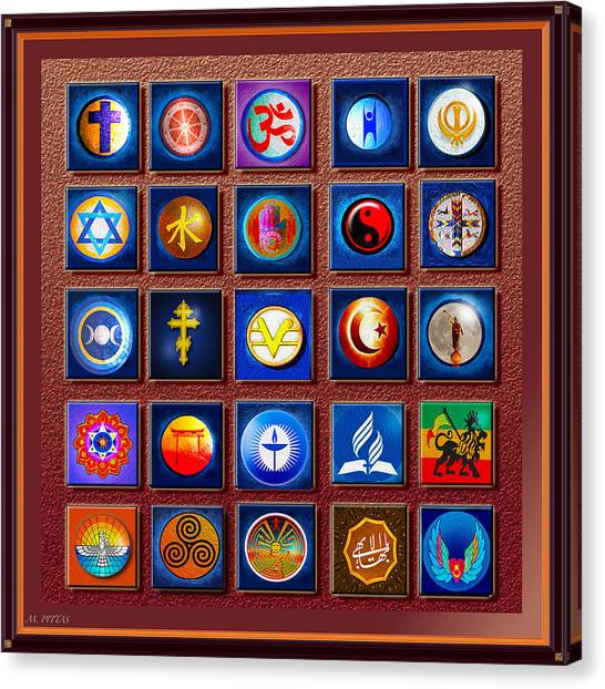 Symbols Of Diversity Canvas Print