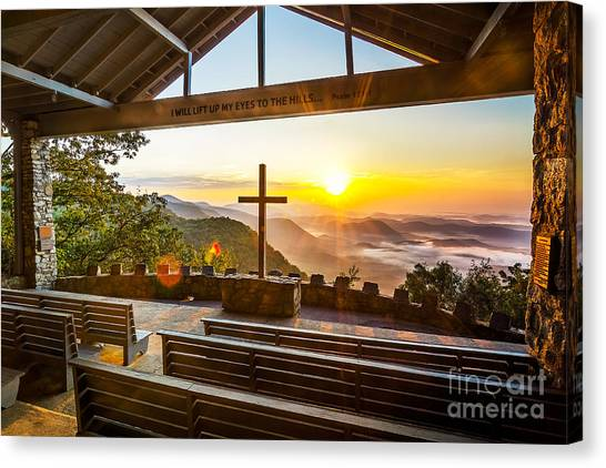 Symmes Chapel Sunrise  Canvas Print