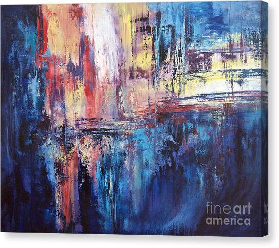 Symphony In Blue Canvas Print