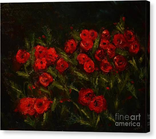 Symphony In Coquelicot Canvas Print