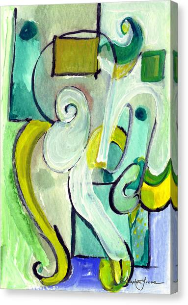 Symphony In Green Canvas Print
