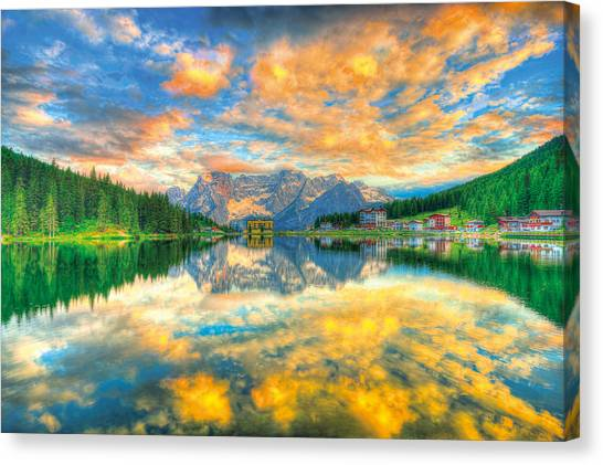 Dolomites Canvas Print - symphony in Lights  by Midori Chan