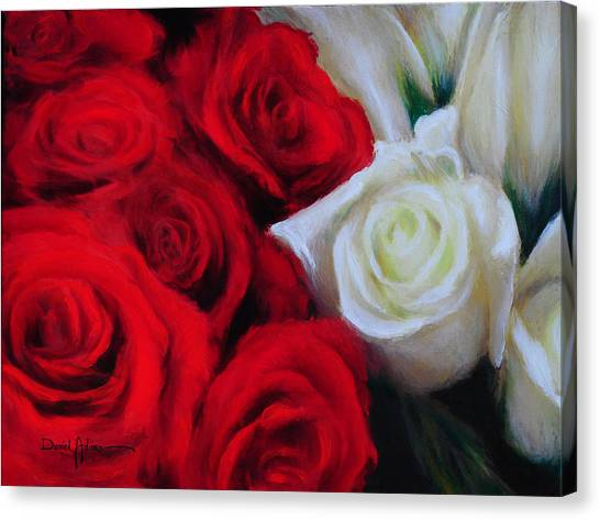 Da143 Symphony In Red And White By Daniel Adams Canvas Print