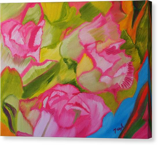 Symphony Of Roses Canvas Print