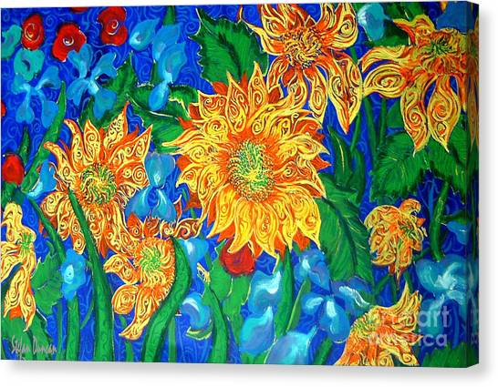 Symphony Of Sunflowers Canvas Print