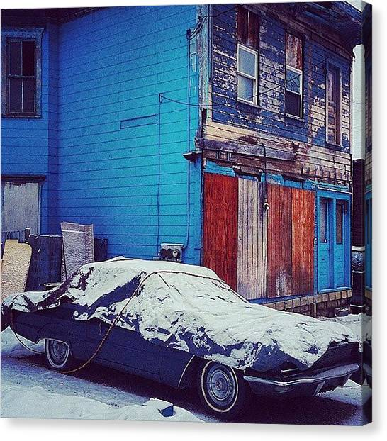 Syracuse University Canvas Print - #syracuse #315 #cny #blue #boardedup by JL Jones
