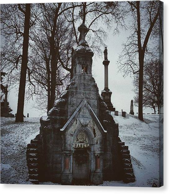 Syracuse University Canvas Print - #syracuse #cny #cuse #graveyard by JL Jones