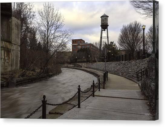 Syracuse University Canvas Print - Syracuse Creekwalk by Everet Regal