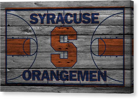 Syracuse University Canvas Print - Syracuse Orangemen by Joe Hamilton