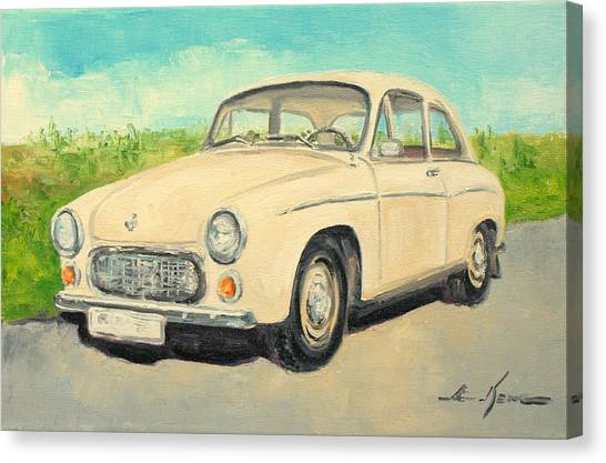 Syrena 105 - Polish Car Canvas Print