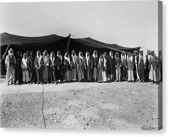 Arabian Desert Canvas Print - Syria Refugees, C1926 by Granger