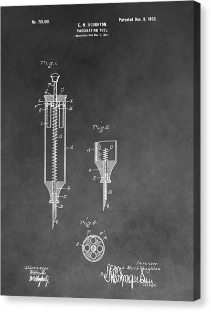 Health Insurance Canvas Print - Syringe Patent by Dan Sproul
