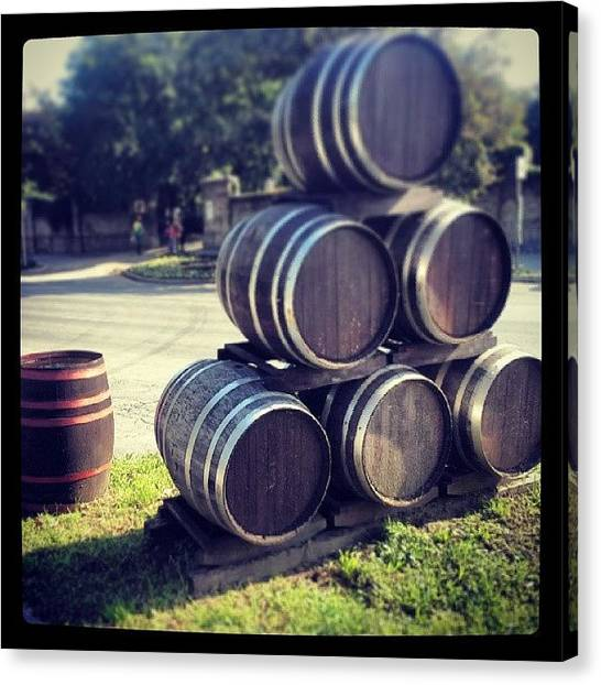 Wine Barrels Canvas Print - #szekszárd #wine #instatravel #travel by Koritar Henriett