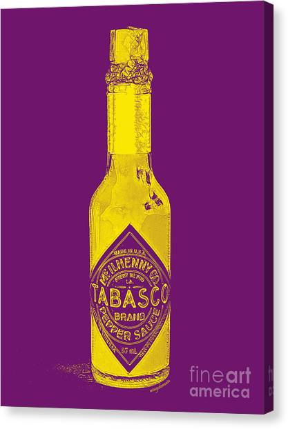 Hot Sauce Canvas Print - Tabasco Sauce 20130402grd by Wingsdomain Art and Photography