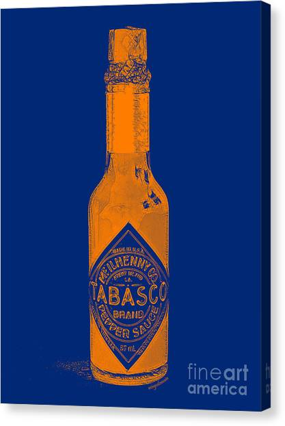 Hot Sauce Canvas Print - Tabasco Sauce 20130402grd2 by Wingsdomain Art and Photography