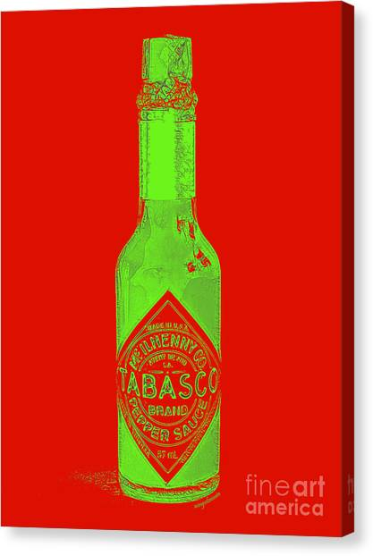 Hot Sauce Canvas Print - Tabasco Sauce 20130402grd3 by Wingsdomain Art and Photography