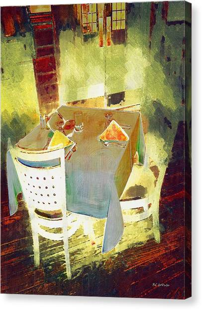 Table At The Fauve Cafe Canvas Print