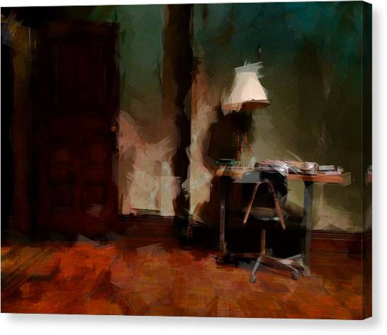 Harlem Canvas Print - Table Lamp Chair by H James Hoff
